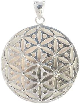 Bella Carina Anhänger Blume des Lebens mit shiva auge 3,3 cm, 925 Sterling Silber