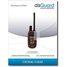 """2 x disGuard® Protector de pantalla Garmin Alpha 100 Protectores de pantalla de película """"CrystalClear"""" invisible"""