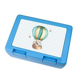 Brotdose, Lunchbox in Blau mit Tieren für Kinder