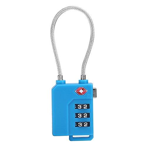 Zetiling Gepäck-Passwortsperre, rücksetzbare Passwort-Code-Sperre, TSA-Zahlenschloss für Reisekoffer(02) -
