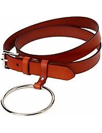 Easy Go Shopping Cinturón de Mujer Cinturón elástico Ajustable Elegante  para Mujer Correa de Cintura Plana 7ffd7f4dac6d