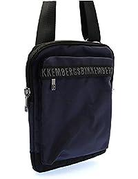 Bikkembergs - Bolso al hombro para hombre azul turquesa