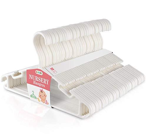 ilauke Set di 36 Grucce Appendiabiti Plastica per Bambino Bianco