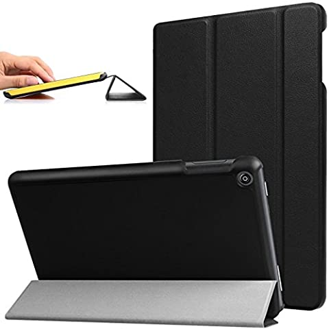 Cuvr Case for All-New Amazon Fire HD 8 Tablet (2017), Desk and Lap Stand with Smart Cover, Black