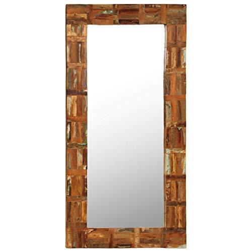 vidaXL Wandspiegel Altholz 60x120cm Badspiegel Flurspiegel Holzspiegel Spiegel