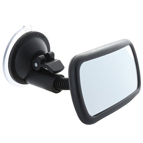 Smart Planet Hochwertiger Toter Winkel Spiegel/Convex Toter-Winkel- Innenspiegel mit Schwanenhals, Sauger Befestigung an jeder Scheibe -