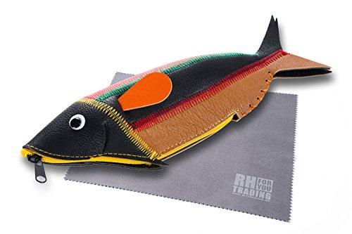 Preisvergleich Produktbild FEFI Brillenetui Stiftebox Fish mit Reißverschluss