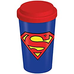 """DC Comics """"Superman"""" de cerámica taza de viaje, Multi-color"""