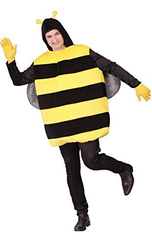 Zebra Kostüm 2 Mann - Dicke Biene Kostüm für Erwachsene Gr. M/L, Größe:L