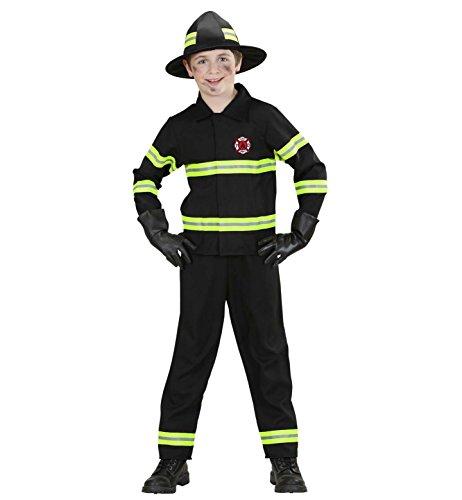 erkostüm Feuerwehrmann, Jacke, Hose und Helm, Größe 158 ()