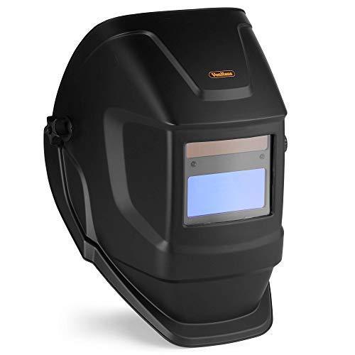 VonHaus Schweißmaske, automatischer Verdunkelungshelm, austauschbare Linse, Filtersensoren, Lange Lebensdauer, Solar-Assistent-Akku