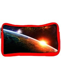 Snoogg Eco Friendly Canvas A New Dawn By Burning Liquid Designer Student Pen Pencil Case Coin Purse Pouch Cosmetic...