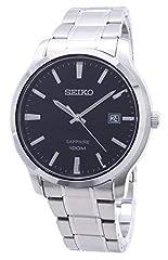 Idea Regalo - Seiko SGEH41P1, da uomo, data, cassa in acciaio inossidabile e braccialetto, vetro zaffiro, 100M WR, SGEH41