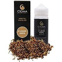 CIGMA Classic Tabaco 100ml E Liquido 0mg - Nuevas botellas de llenado leve Fórmula de calidad superior con solo ingredientes de alto grado - Hecho para cigarrillo electrónico y E Shisha - Elíquido