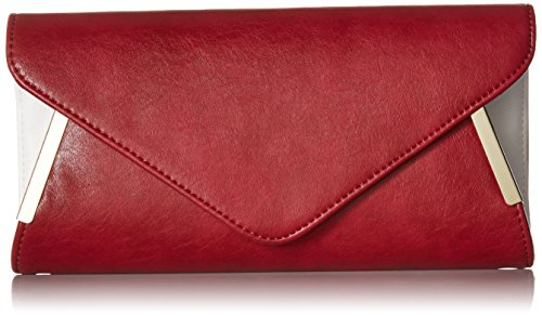 bmc-womens-firebrick-red-pu-faux-leather-envelope-flap-alloy-metal-two-tone-white-accented-fashion-c