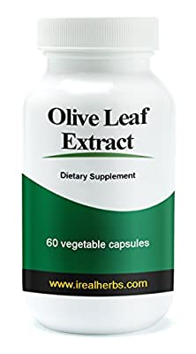 Real Herbs Olive Leaf Extract Super Strength - 750mg standardized to 20% oleuropein - All the Benefits of Olive Leaf Extract and encapsulated in convenient Capsule Form. 60 Vegetarian Capsules by Real Herbs