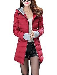 SMITHROAD - Abrigo - chaqueta guateada - Básico - Manga Larga - para mujer