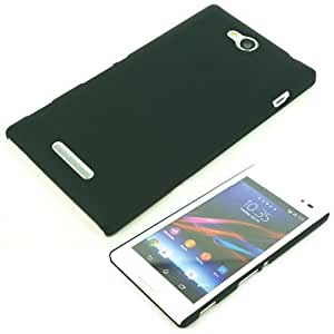 Mercator Rubberized Back Cover for Sony Xperia C (Black)