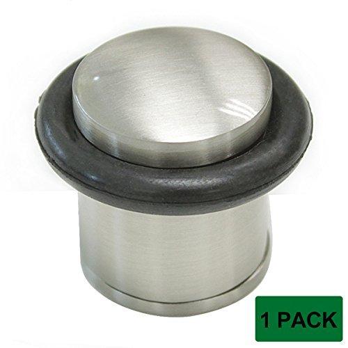 Probrico Türstopper, Bodenmontage, mit Schraube, 1 Stück - Brushed Nickel Door Stop