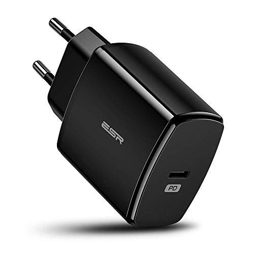 ESR 18W USB C Ladegerät kompatibel mit Samsung S10/S10+/S10e/S9/S9+/S8/S8+,iPhone XS/XS Max/XR/X/8/8+,Huawei P30/P30 Pro,iPad Pro 11/12.9,iPad Mini/iPad Air 2019,Google Pixel und Weitere.