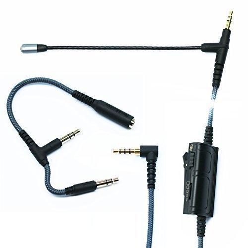 Gaming mic, ketdirect adattatore cavo audio con microfono universale per volume gaming ps4xbox one pc portatile iphone android windows phone a v-moda beats solo e più 3.5mm porta di ingresso per cuffie 150cm/200cm