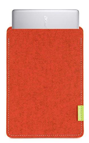 WildTech Sleeve für Acer Chromebook 14 (CB3-431-C6UD) Hülle Tasche aus echtem Wollfilz - 17 Farben (Handmade in Germany) - Rost