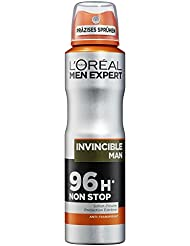 L'Oreal Men Expert Deo Spray Invincible Man, 96H Nonstop Schutz (6 x 150 ml)