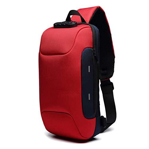Secure Lock Usb (Tincocen Anti-Theft Backpack with 3-Digit Lock Shoulder Bag Waterproof for Mobile Phone Travel)