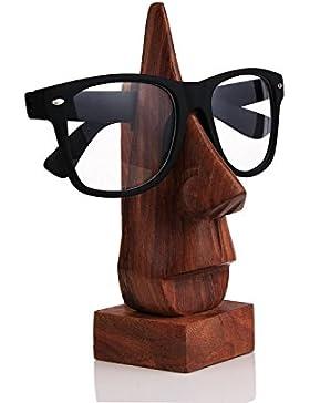 Weihnachtsgeschenke, Holzern Hand geschnitzte Nose geformt Brillengestell Spectacle Inhaber Einzigartige Heim...