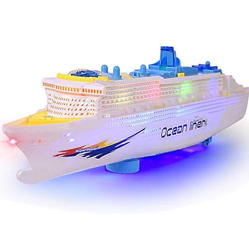 LULU Simulation Schiffsmodell Kinderspielzeug Licht Musik Kreuzfahrtschiff Elektrisches Spielzeug Plastikboot
