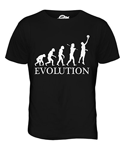 CandyMix Netball Evolution Des Menschen Herren T Shirt Schwarz