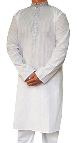 Maple Vêtements Hommes Kurta pyjama En Coton Brodé Apparel Indienne