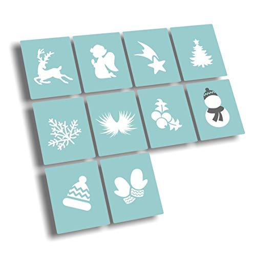 Airbrush Schablonen für Nailart - Nail Art sellbstklebend - Winter, Weihnachten, Schneeflocken, Sterne