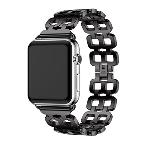 Hunpta Echter Edelstahlarmband Smart Band Uhrenarmband für Apple Watch Serie 2 38mm - 3