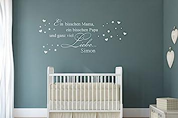 Wandtattoo Ein bisschen Mama, ein bisschen Papa und ganz viel ... | {Wanddeko babyzimmer 5}
