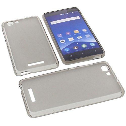 Tasche für Mobistel Cynus F10 Gummi TPU Schutz Handytasche grau