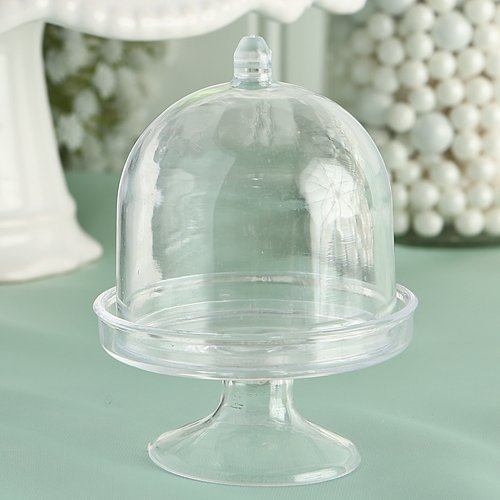 Fashioncraft Cake Stand/Plastic Box from The Perfectly Plain Collection, Mini by Fashioncraft Plain Cake Box