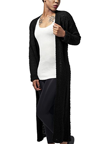 Urban Classics Ladies Boucle Cardigan, Cappotto Donna, Nero (Black 7), X-Small