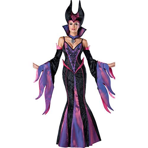 Story of life Halloween Königin Hexe Vampir Cosplay Kostüm, Dark Devil Masquerade Party Europäischen Und Amerikanischen Bühnenkleid,Purple,M