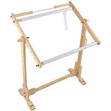 Soporte de pie de madera para punto de cruz y bordado de Yosoo, S: