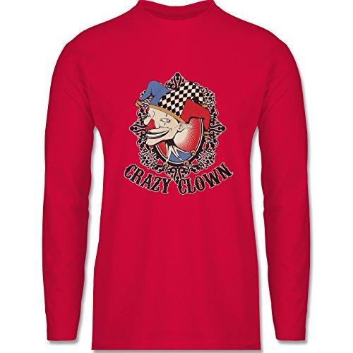 Shirtracer Karneval & Fasching - Crazy Clown - Herren Langarmshirt Rot