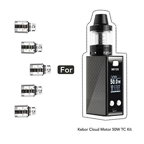 Kebor Elektronische Zigarette 0.5 ohm Verdampferköpfe E Zigarette E Shisha Temperaturkontrolle Organic...