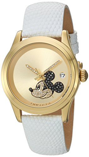 Invicta Men's Analog Automatic-self-Wind Watch with Leather Calfskin Strap 22726