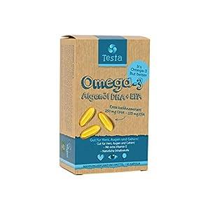 Omega 3 Algenöl vegan Testa DHA EPA Kapseln