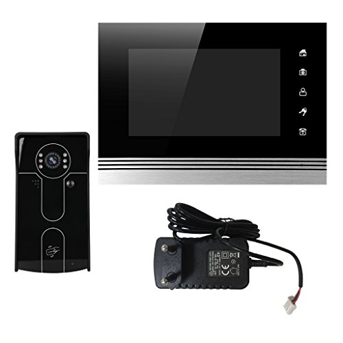 MagiDeal 7 Zoll Wireless Wifi IP Video Türsprechanlage Türklingel mit 1x700 TVL Wireless Kamera,unterstützen Dual Wege Anruf,25 Arten von Klingeln Wireless Türklingel Kamera Video