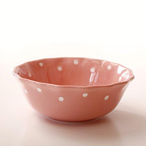 Vaisselle en céramique de 7 pouces 20 oz bol en grès coloré salade style coréen (Couleur : Pink)