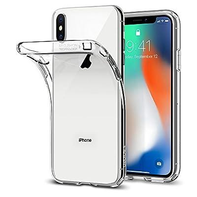 Spigen Coque iPhone XS / Coque iPhone X, [Liquid Crystal] Ultra Fine TPU Silicone [Crystal Clear] Transparent / Adhérence Parfaite / Anti-trace Souple Coque pour Apple iPhone XS et iPhone X par Spigen - Coques et housses