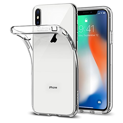 Spigen Coque iPhone X, [Liquid Crystal] Ultra Fine TPU Silicone [Crystal Clear] Transparent/Adhérence Parfaite/Anti-Trace Souple...