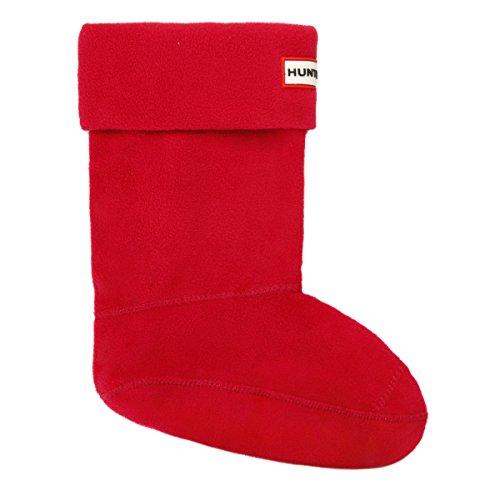 Hunter Shorts Stiefel Socken - Schwarz - Rot, Größe M (Socks Fleece Welly Hunter)