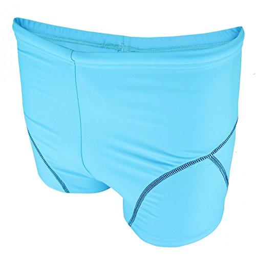 Aquarti Jungen Badehose Schwimmhose kontrastfarbene Nähte, Farbe: Hellblau / Dunkelblau, Größe: 104